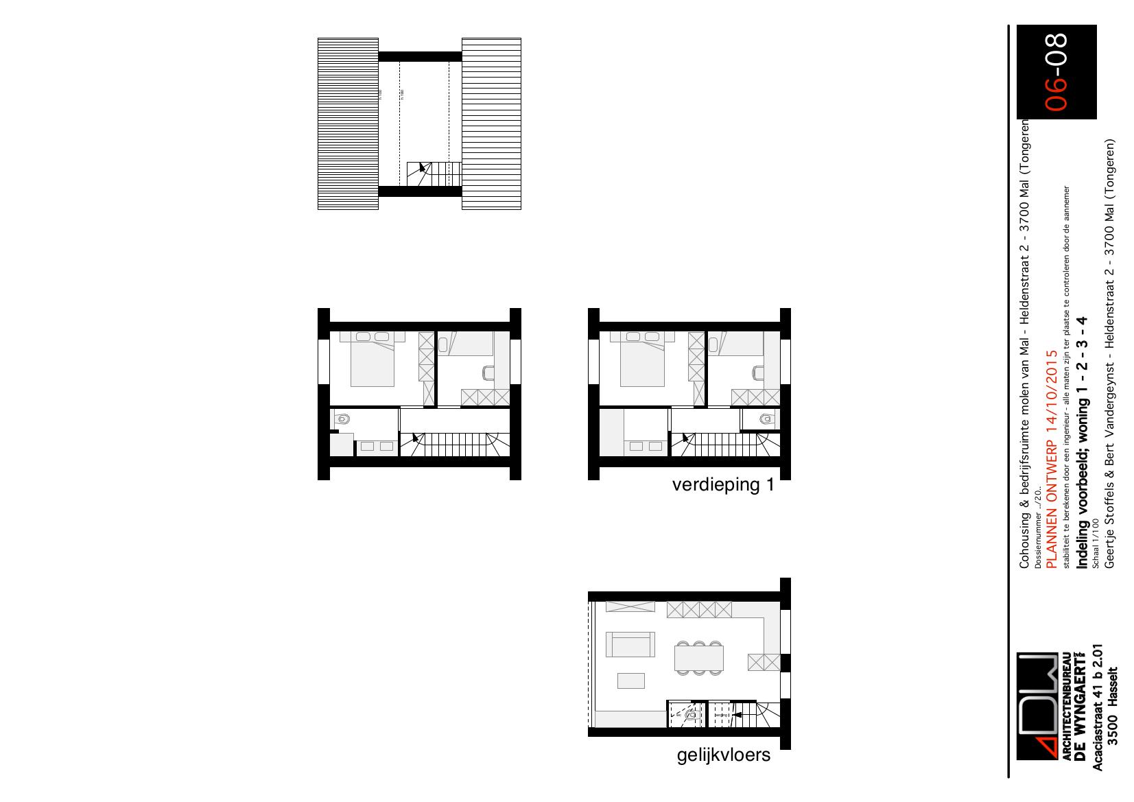Cohousing Mal mei-2016-03_indeling_woning_1-4